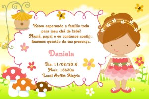 Convite digital personalizado para Chá de Bebê 058