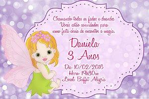 Convite digital personalizado Fadas 010