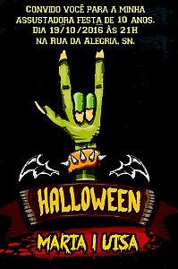 Convite digital personalizado Halloween 027