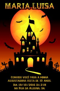 Convite digital personalizado Halloween 043
