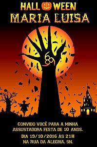 Convite digital personalizado Halloween 044