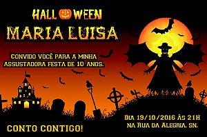 Convite digital personalizado Halloween 045