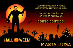 Convite digital personalizado Halloween 048