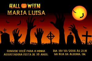 Convite digital personalizado Halloween 049