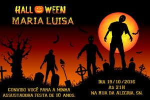 Convite digital personalizado Halloween 050