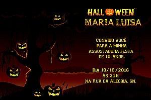 Convite digital personalizado Halloween 055