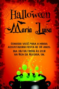 Convite digital personalizado Halloween 060