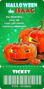 Convite digital bilhete personalizado Halloween 061