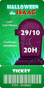Convite digital bilhete personalizado Halloween 062