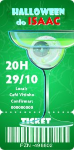 Convite digital bilhete personalizado Halloween 063