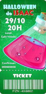 Convite digital bilhete personalizado Halloween 064