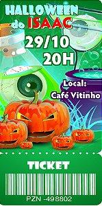 Convite digital bilhete personalizado Halloween 065