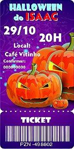 Convite digital bilhete personalizado Halloween 066