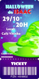 Convite digital bilhete personalizado Halloween 067
