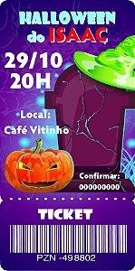 Convite digital bilhete personalizado Halloween 068