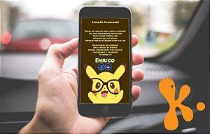 Convite personalizado para WhatsApp Pokemon GO 036