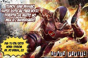 Convite digital personalizado The Flash 001