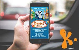 Convite personalizado para WhatsApp Canal Panda