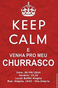 Convite digital personalizado Churrasco 004