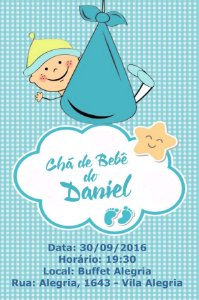 Convite digital personalizado Chá de Bebê 061