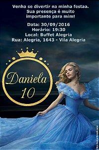 Convite digital personalizado Cinderela 023
