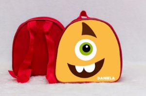 Arte para mochila personalizada Monstros SA 008