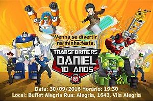 Convite digital personalizado Transformers Rescue Bots 002