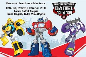 Convite digital personalizado Transformers Rescue Bots 003