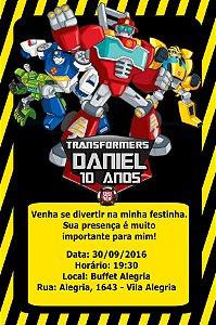 Convite digital personalizado Transformers Rescue Bots 004