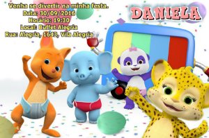 Convite digital personalizado Word Party 001