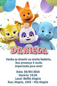 Convite digital personalizado Word Party 003