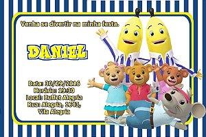 Convite digital personalizado Bananas de Pijamas 003