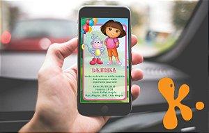 Convite personalizado para WhatsApp Dora a Aventureira