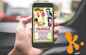 Convite personalizado para WhatsApp Fadas Disney