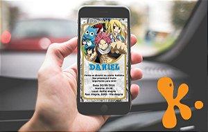 Convite personalizado para WhatsApp Fairy Tail