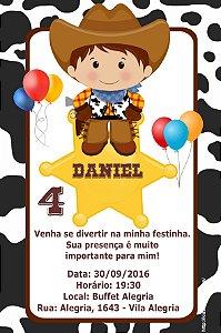 Convite digital personalizado Cowboys 010