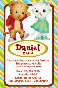 Convite digital personalizado Daniel Tigre 005