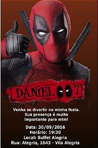 Convite digital personalizado Deadpool 011