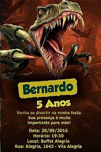 Convite digital personalizado Dinossauros 013