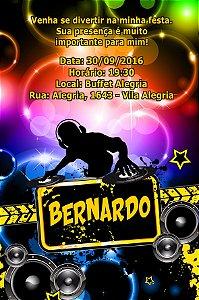 Convite digital personalizado Discoteca 001