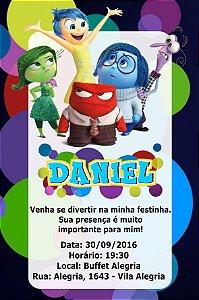 Convite digital personalizado Divertida Mente 006
