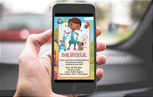 Convite digital personalizado Doutora Brinquedos 015