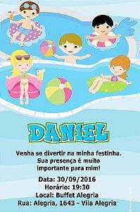 Convite digital personalizado Festa na Piscina 005