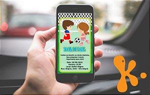 Convite personalizado para WhatsApp Futebol