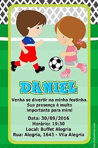 Convite digital personalizado Futebol 001