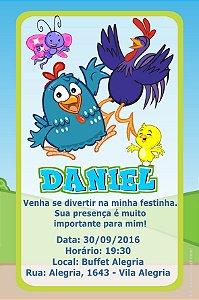 Convite digital personalizado Galinha Pintadinha 008
