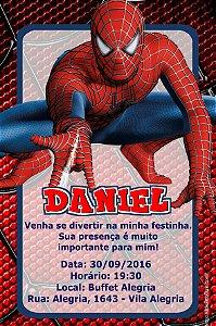 Convite digital personalizado Homem Aranha 016