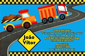 Convite digital personalizado Caminhões 003