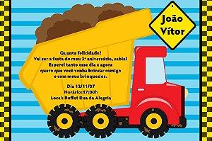 Convite digital personalizado Caminhões 004