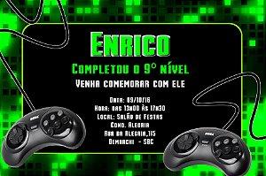 Convite digital personalizado Videogame 002